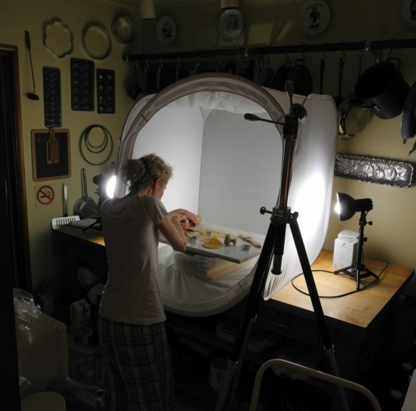 "Adri Working in the ""Photo Studio"""