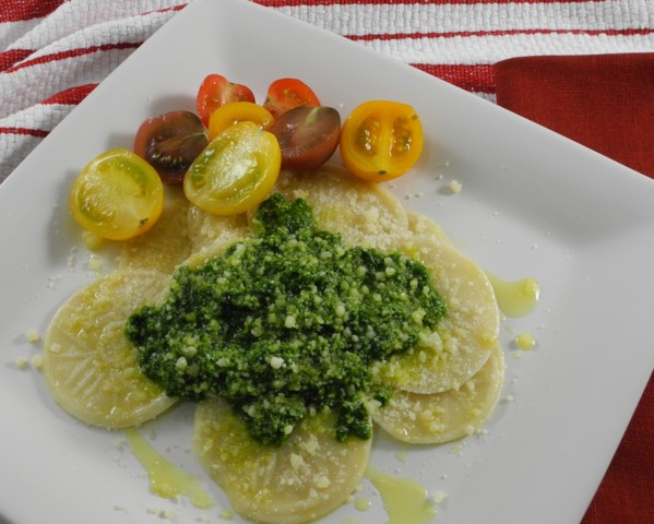 Corzetti Stampati with Pesto 01