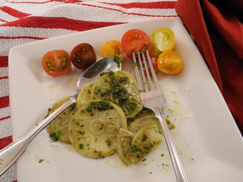 Corzetti Stampati with Pesto 02