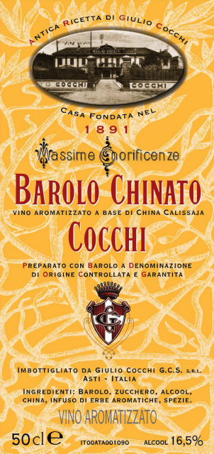 Barolo Chinato Label