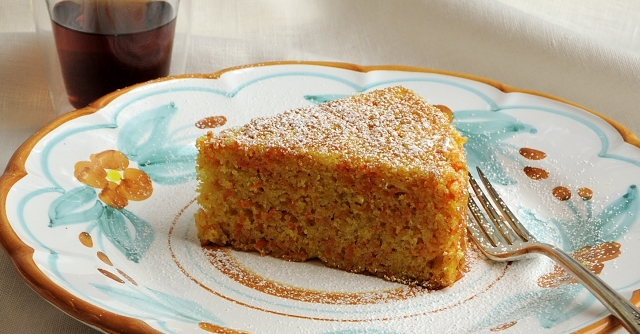Carrot Polenta Cake with Marsala