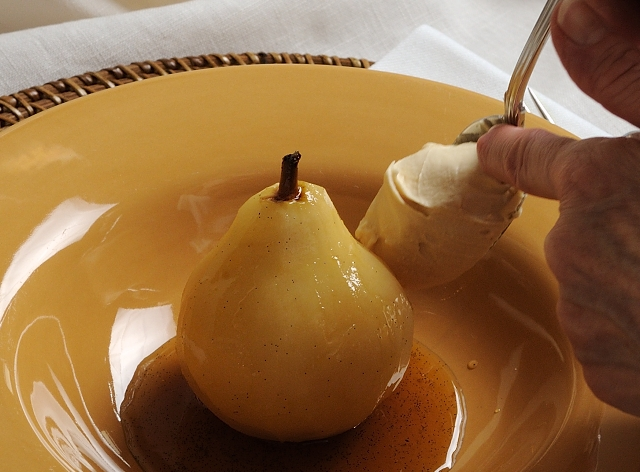 Poached Pear Mascarpone
