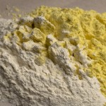 Corn flour and all-purpose flour