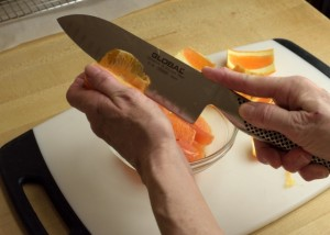 Cutting Citrus Membrane