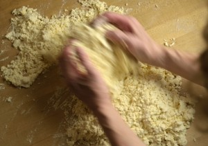 Kneading Cavatelli Dough