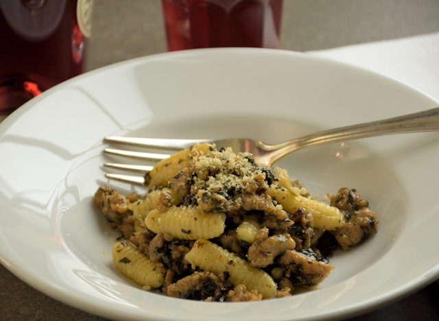 Ricotta Cavatelli with Sausage and Swiss Chard